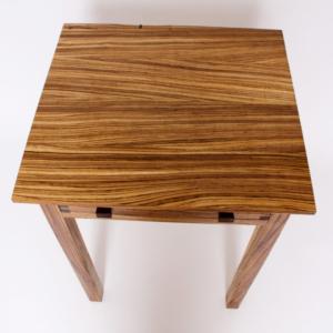 Zebra End Table